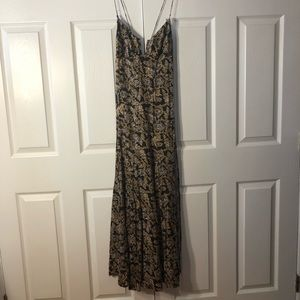 Free people floral women's maxi dress